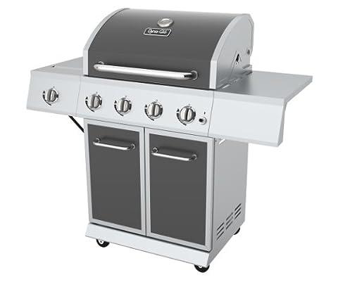 Dyna-Glo DGE Series Propane Grill, 4 Burner, Gunmetal - 4 Burner Gas Grill
