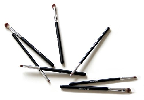 Makeup Eye Brush Set - Eyeshadow Eyeliner Blending Crease Kit - Best Choice 7 Essential Makeup Brushes - Pencil, Shader, Tapered, Definer - Last Longer, Apply Better Makeup & Make You Look Flawless!