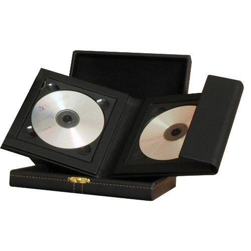 Supreme 2 Disc CD/DVD Folio with Leather Box and Gold Clasp - Case of 6 by Neil Enterprises