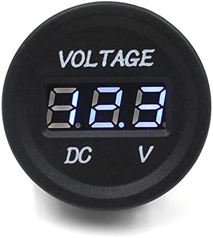 YGL DC 12V Motocicleta Coche LED volt/ímetro de Pantalla Digital Impermeable Volt/ímetro