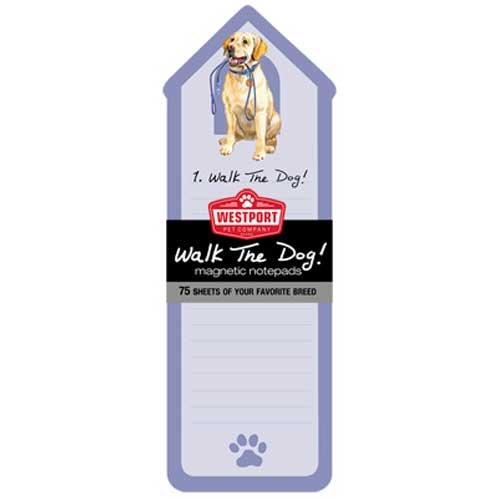 Yellow Labrador Retriever Walk the Dog Magnetic Note Pad