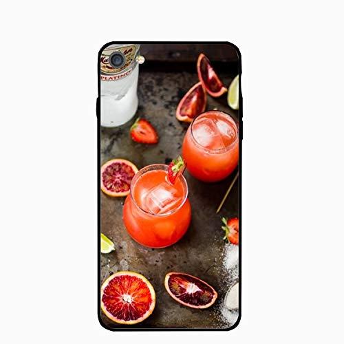 (iPhone 6 Plus Case,Personalized Blood Orange Rum Strawberry Cellphone case)
