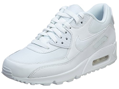Nike Men's Air Max 90 Essential Sneakers, Blanco (White/White-White-White 111), 10.5 UK (Cheap Nike Air Max For Sale Uk)