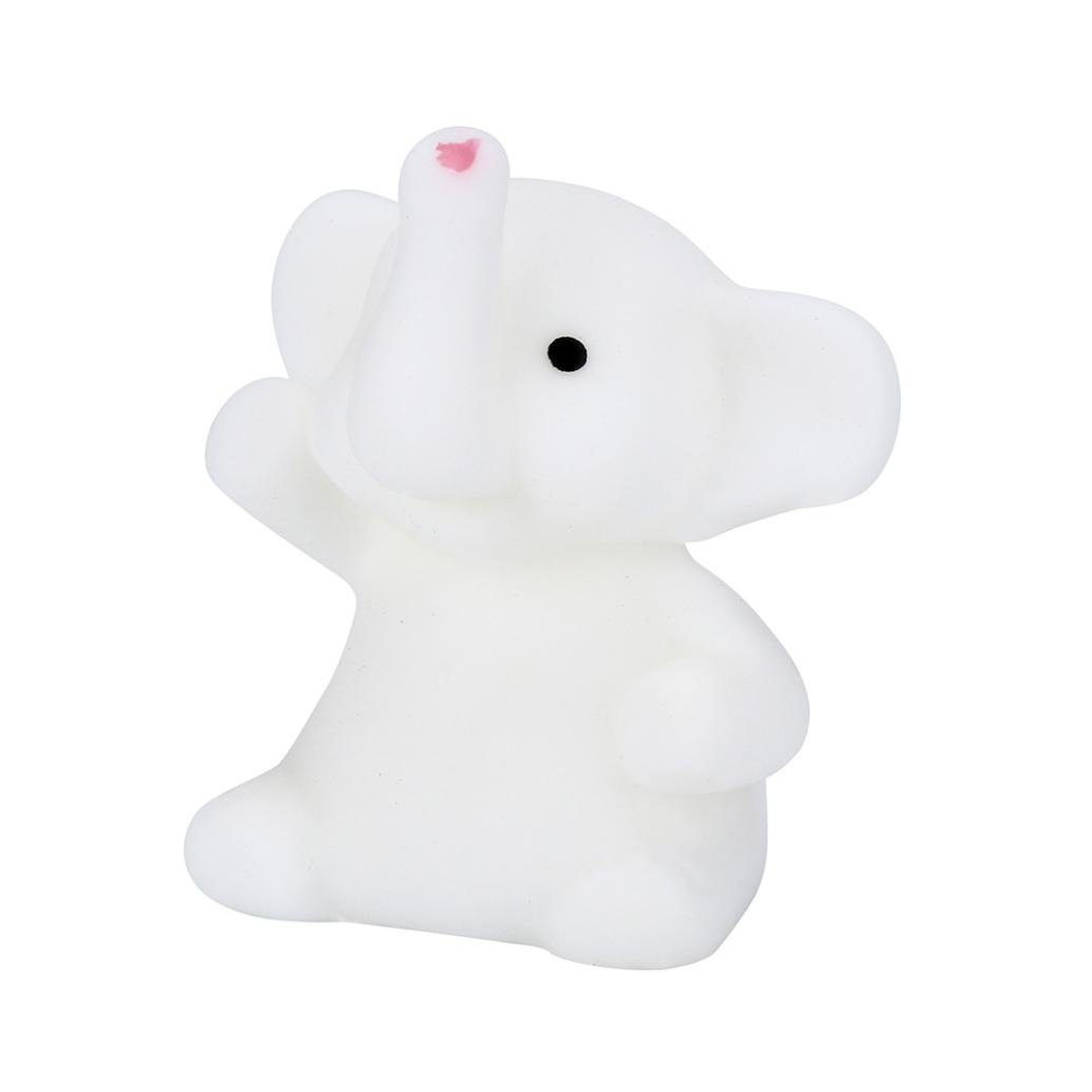 TrimakeShop Squishy Rainbow Animal Phone Straps Slow Rising Bun Charms Gifts Toys Elephant