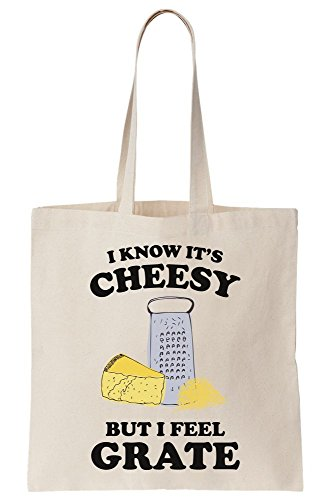 I It's But Cheesy Canvas Feel Grate Bag Tote Know I qIp5FwxyTw