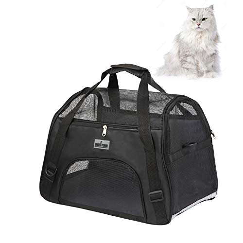 perfrom Pet Carrier Soft Cat Carrier Airline Approved Soft Side Pet Carrier for Cats Small Dogs Travel Carrying Handbag…