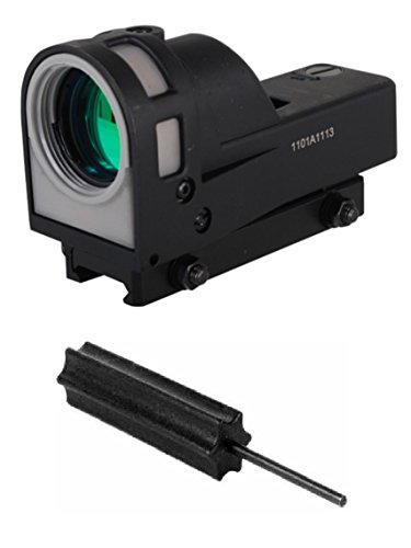 Meprolight The Mako Group M21 T Self-Powered Day/Night Reflex Sight with Dust Cover - Triangle + Ultimate Arms Gear 3/32 Pin Punch Tool