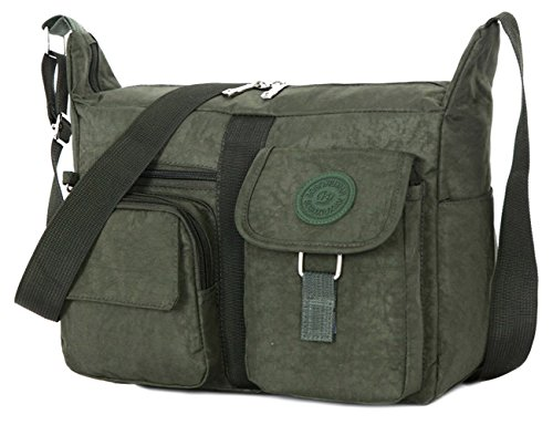14071136ab7b TIBES Travel Messenger Bag Casual Shoulder Bag Couple s Design Oxford  Fabric Crossbody Bag for Men
