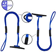 DockMoor Dock Lines for Boats 4 - 5.5 feet Mooring Ropes with Bungee Cord Built-in Boating Accessories for Boa