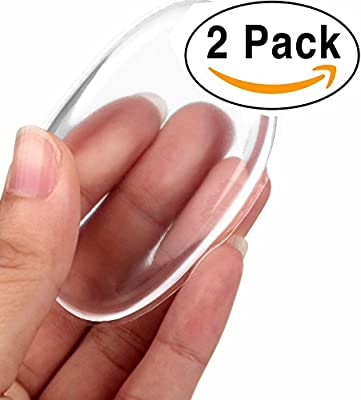 2 Pack Silicone Makeup Sponge [Washable] Premium Quality - Gel Foundation Makeup and Puff BB - Best Silisponge Cosmetic Beauty Tools Blender [Clear]