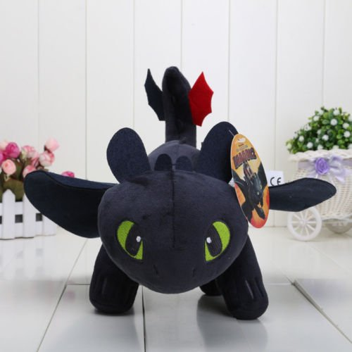 13'' How to Train Your Dragon Toothless Night Fury Stuffed Animal Plush Toy Doll (Cena John Stuffed Toy)