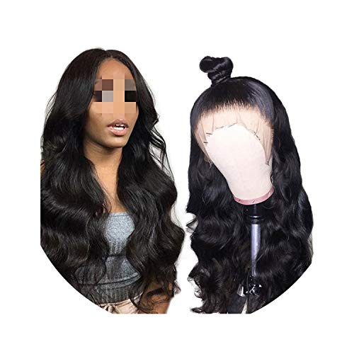 Brazilian Body Wave Wig with Baby Hair Lace Frontal Wig Remy 150% Pre Plucked Lace Front Human Hair Wig for Black Women,10inches,130%