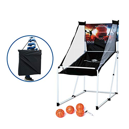 Sportcraft SIR00840 Double Electronic Hoops Basketball Arcade Game with 4 Balls and 1 Carry Bag