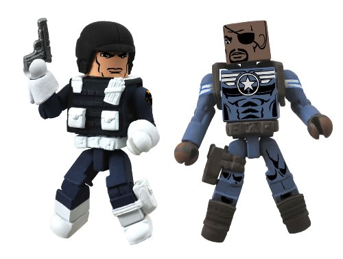 Diamond Select Toys Marvel Minimates Series 51 Marvel Now Nick Fury Jr. and Heavy Shield Agent The She-Devil Action Figure]()
