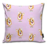 Robeot-Design Wannabe Uni Corgi Quare Decorative Throw Pillow Case Cushion Cover 18inchs