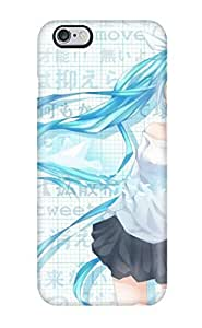 6 Plus Scratch-proof Protection Case Cover For Iphone/ Hot Vocaloid Hatsune Miku Text Blue Twitter Twintails Blush Shirts Cellphones Phone Case