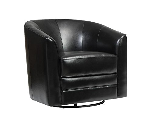 Emerald Home U5029C-04-16 Milo Swivel Chair, Black