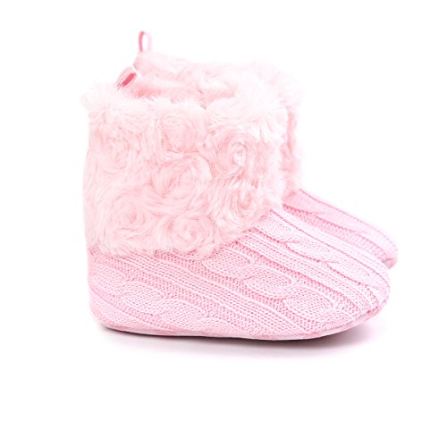 Sibba Womens Children Winter Warm Indoor Outdoor Slipper Mid Calf Boot Slippers Snow Bootie Baby-pink eVRrF