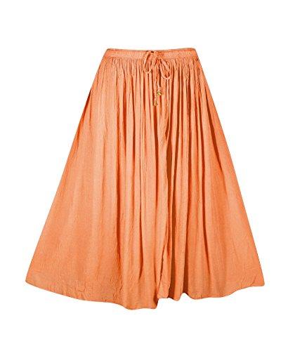 Plus Size Peach Crinkle Gauze Skirt --Size: one size Color: (Crinkle Gauze Skirt)