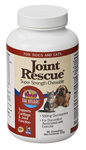 Rescue Super Strength Chewable Tablets - Ark Lighting Joint Rescue Super Strength for Dogs and Cats, 90-Chewable Tablets