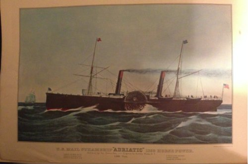 Calendar Currier & Ives Prints (U.s Mail Steamship Adriatic 1350 Horse Power, Reprinted in 1972 From Lith Currier & Ives (Size:11