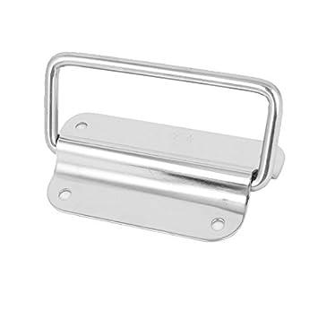 eDealMax Crate Box 4 pulgadas Longitud de acero inoxidable de 90 grados Extractor Handle pecho tono