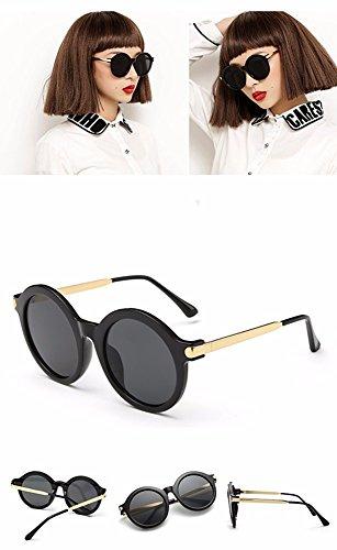 de gafas Gafas uv personalizado película color big sol Negro XIAOGEGE de azul box gafas redondas de SXxdTwqPP