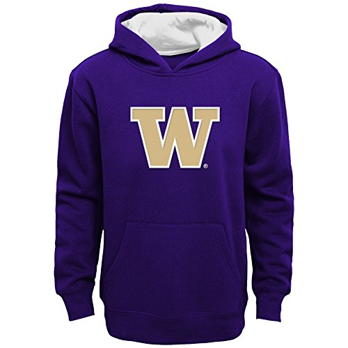 Ncaa Washington Huskies Children Boys  Prime  Pullover Hoodie  Small 4   Regal Purple