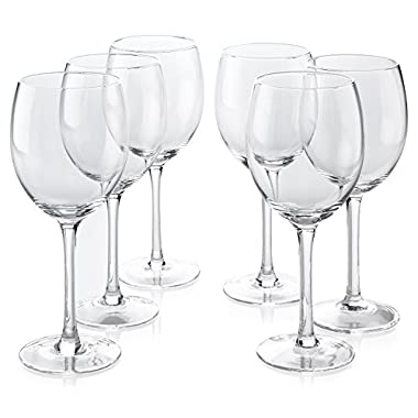 Classic Premium All-Purpose Clear Wine Glasses (18 Ounce) Set Of 6
