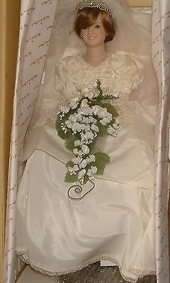 Danbury Mint Vintage Princess Diana Bride Doll: Commerative Edition 1986