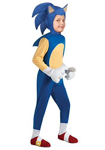 [Sonic the Hedgehog Deluxe Kids Costume] (Hedgehog Costumes For Kids)