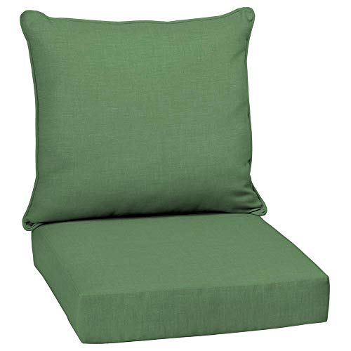 Arden Selections 24 x 24 Moss Leala Texture 2-Piece Deep Seating Outdoor Lounge Chair Cushion
