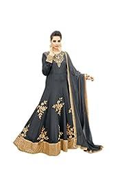 Indian Women's Ethnic Party Wear Anarkali Salwar Kameez Suit Semi-Sttiched