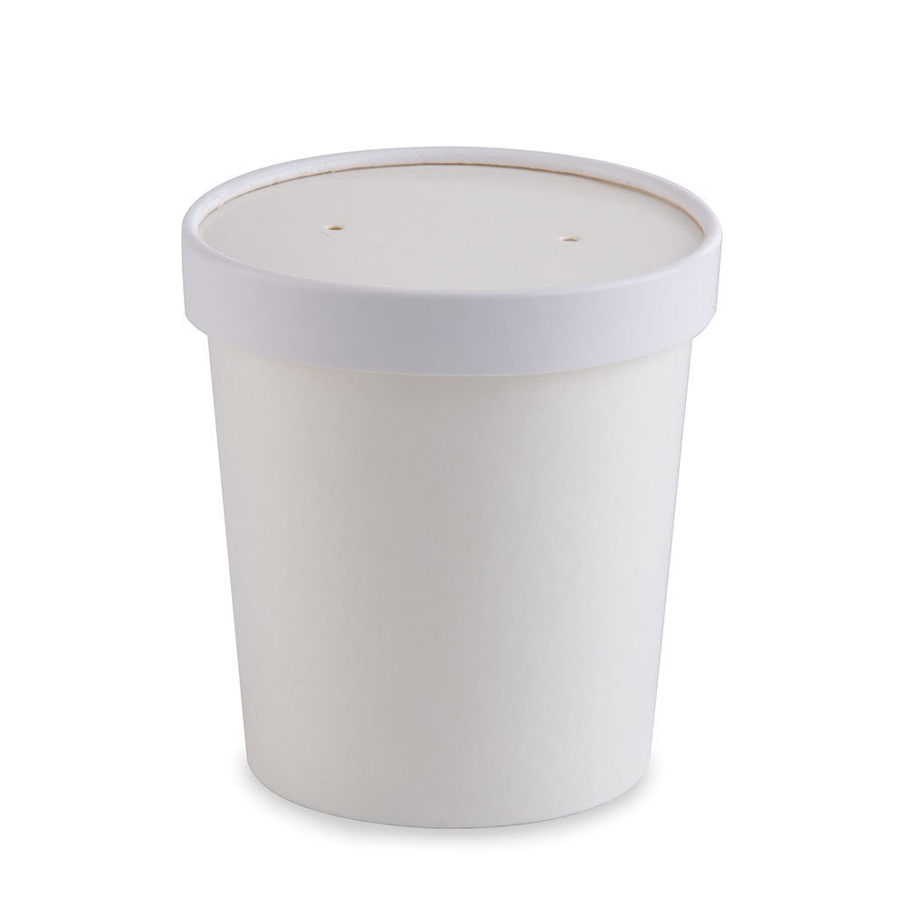 White Pint Paper Ice Cream Container 16 oz (250)
