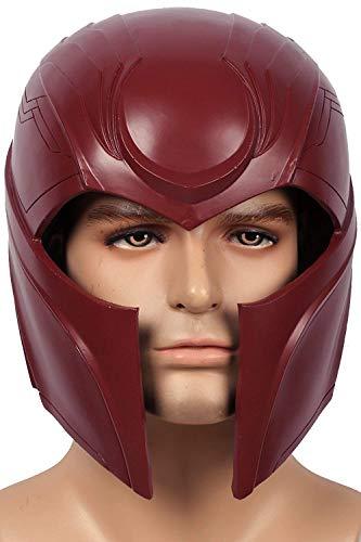 Magneto Mask Helmet Men Costume Apocalypse Cosplay Adult Resin Full Head Helmet Halloween Mask Grey -
