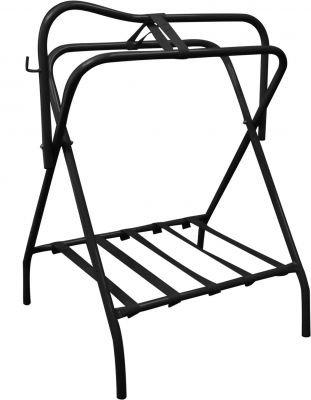 Showman Western Or English Black Folding Saddle Rack by Showman