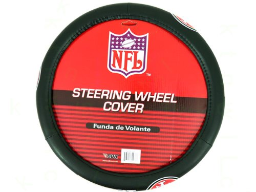 NFL Comfort Grip Steering Wheel Cover - San Francisco 49ers (49ers Steering Wheel compare prices)