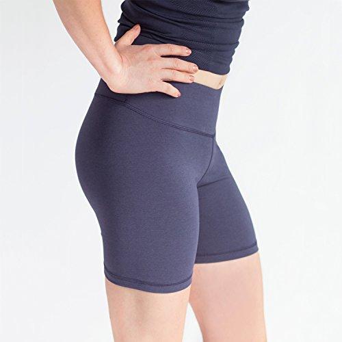 Annelle Megan Womens Bike Short, Gym & Yoga Short, Wide Waistband, Flexible Movement, Black, M by Annelle (Image #3)