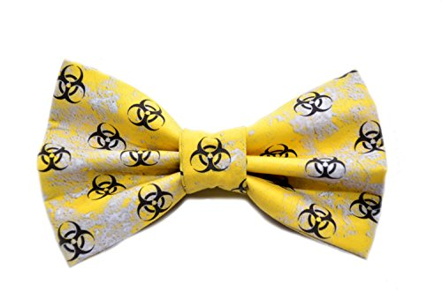 [Bio Hazard Bow Tie with Adjustable Strap Costume Novelty Adult Kid and Toddler Sizes Available] (Biohazard Costumes)