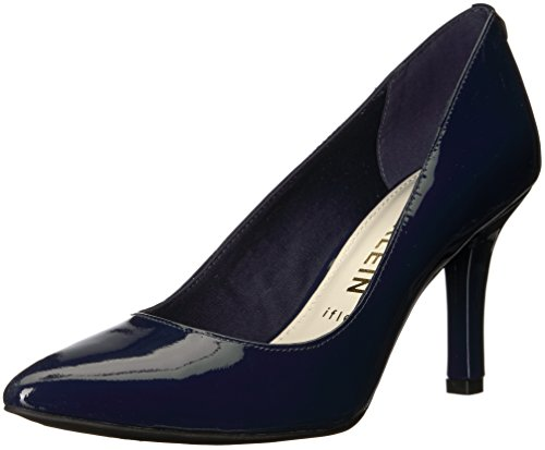 Anne Klein Women's FAELYN Patent Pump, Navy, 7.5 M US