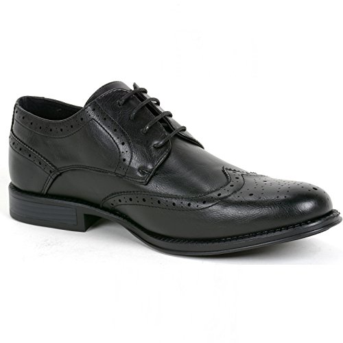 swiss Shoes Wing Dress Tip Brogue Black alpine Lace Zurich Mens Up Oxfords Medallion URqCBnT