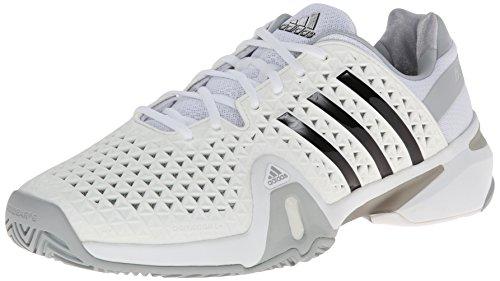 adidas Barricade 8+ Herren Tennisschuh Kern Weiß / Schwarz / Klar Onix