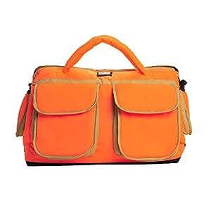 7am enfant voyage diaper bag neon orange beige large baby. Black Bedroom Furniture Sets. Home Design Ideas