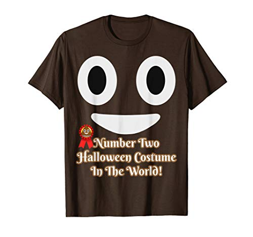 Number Two Halloween Costume Funny Poop Pun Emoji T-Shirt
