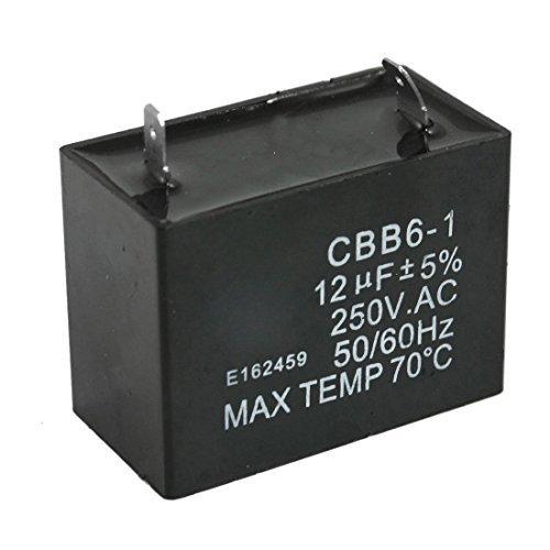 CBB6-1 12uF 250V AC Polypropylene Film Fan Motor Run Capacitor
