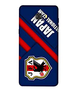 ColorKing Football Japan 02 Blue shell case cover for Samsung C7 Pro
