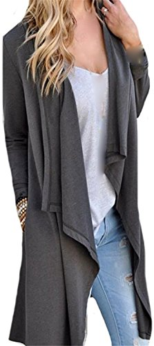 [Carol Sel Nice Women Fashion Solid Color Slim Fit Casual Long Cardigan Dark GreyX-Small] (Celebrities To Dress Up As)