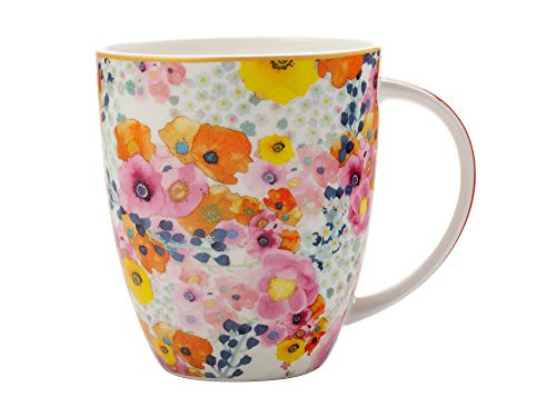 Maxwell & Williams Cashmere Bone China Bloems Coupe Coffee Tea Mug Cup in White 13.5 floz