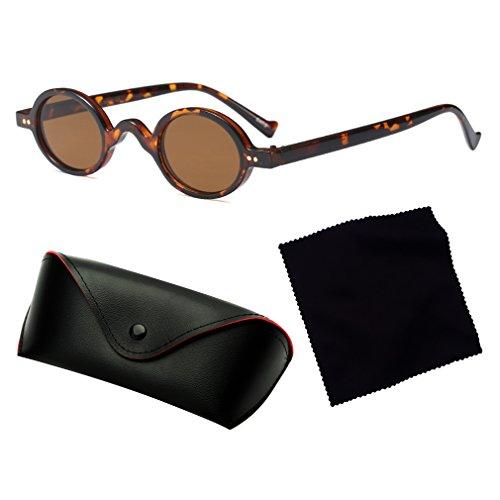 Tide Soleil UV Petites De Lumineux Rétro Style 400 Rondes Vintage Nouveau junkai Mode Cool Unisexe De C1 Glasses Lunettes Protection a1qInA