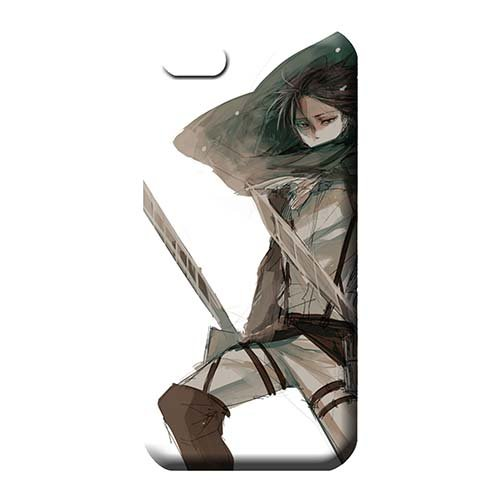 Plastic Awesome Look Cell Phone Carrying Cases Shingeki no kyojin Shatterproof iPhone 7 - Phone Mobile Levis